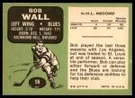 1970 Topps #98  Bob Wall  Back Thumbnail