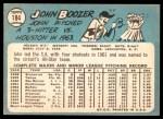 1965 Topps #184 BRK John Boozer  Back Thumbnail