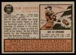 1962 Topps #266  John Anderson  Back Thumbnail