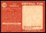 1958 Topps #118  Babe Parilli  Back Thumbnail
