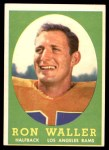 1958 Topps #72  Ron Waller  Front Thumbnail