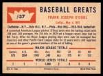 1960 Fleer #37  Lefty O'Doul  Back Thumbnail