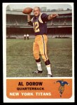 1962 Fleer #57  Al Dorow  Front Thumbnail