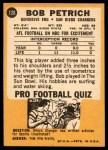 1967 Topps #126  Bob Petrich  Back Thumbnail