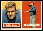 1957 Topps #32  Bobby Layne  Front Thumbnail
