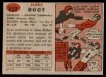 1957 Topps #112  Jim Root  Back Thumbnail