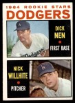 1964 Topps #14   -  Dick Nen / Nick Willhite Dodgers Rookies Front Thumbnail