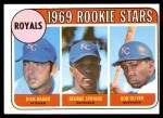 1969 Topps #662   -  Dick Drago / Bob Oliver / Geroge Spriggs Royals Rookies Front Thumbnail