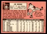 1969 Topps #241  Jim Brewer  Back Thumbnail