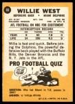 1967 Topps #80  Willie West  Back Thumbnail