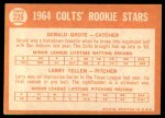 1964 Topps #226   -  Jerry Grote / Larry Yellen Colt 45s Rookies Back Thumbnail