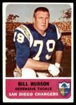 1962 Fleer #85  Bill Hudson  Front Thumbnail