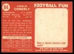 1958 Topps #84  Charley Conerly  Back Thumbnail