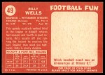 1958 Topps #49  Billy Wells  Back Thumbnail