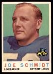 1959 Topps #6  Joe Schmidt  Front Thumbnail
