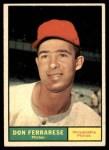 1961 Topps #558  Don Ferrarese  Front Thumbnail