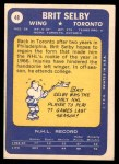 1969 Topps #48  Brit Selby  Back Thumbnail