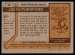 1973 Topps #59  Jim Rutherford   Back Thumbnail