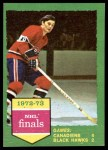 1973 Topps #197   Canadiens 4 Blackhawks 2  Front Thumbnail