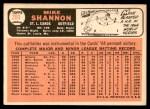 1966 Topps #293  Mike Shannon  Back Thumbnail