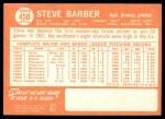 1964 Topps #450  Steve Barber  Back Thumbnail