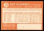 1964 Topps #220  Dick Ellsworth  Back Thumbnail