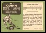 1970 Topps #120  Pat Quinn  Back Thumbnail