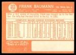 1964 Topps #453  Frank Baumann  Back Thumbnail