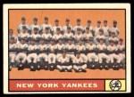 1961 Topps #228   Yankees Team Front Thumbnail