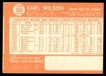 1964 Topps #503  Earl Wilson  Back Thumbnail