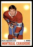 1970 Topps #58  Peter Mahovlich  Front Thumbnail