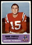 1962 Fleer #4  Babe Parilli  Front Thumbnail