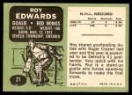 1970 Topps #21  Roy Edwards  Back Thumbnail