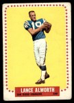 1964 Topps #155  Lance Alworth  Front Thumbnail