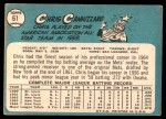 1965 Topps #61  Chris Cannizzaro  Back Thumbnail