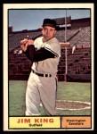 1961 Topps #351  Jim King  Front Thumbnail