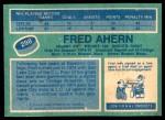 1976 O-Pee-Chee NHL #298  Fred Ahern  Back Thumbnail