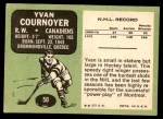 1970 Topps #50  Yvan Cournoyer  Back Thumbnail