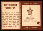 1967 Philadelphia #145   Pittsburgh Steelers Team Back Thumbnail