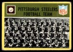 1967 Philadelphia #145   Pittsburgh Steelers Team Front Thumbnail