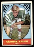 1967 Topps #101  George Sauer  Front Thumbnail