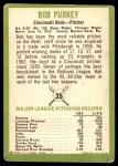 1963 Fleer #35  Bob Purkey  Back Thumbnail
