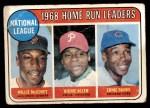 1969 Topps #6   -  Willie McCovey / Rich Allen / Ernie Banks NL HR Leaders Front Thumbnail