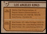 1973 Topps #98   Los Angeles Kings-Hockey Team Back Thumbnail
