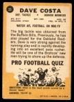 1967 Topps #33  Dave Costa  Back Thumbnail