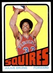 1972 Topps #195  Julius Erving   Front Thumbnail