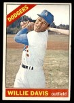 1966 Topps #535  Willie Davis  Front Thumbnail