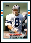 1989 Topps Traded #70 T Troy Aikman  Front Thumbnail
