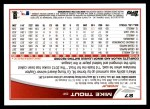 2013 Topps #27  Mike Trout   Back Thumbnail