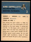1962 Fleer #3  Gino Cappelletti  Back Thumbnail